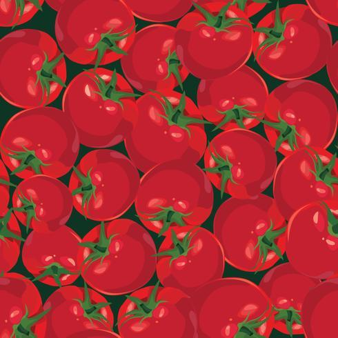 plano de fundo sem emenda de tomate maduro Outono vegetal vetor