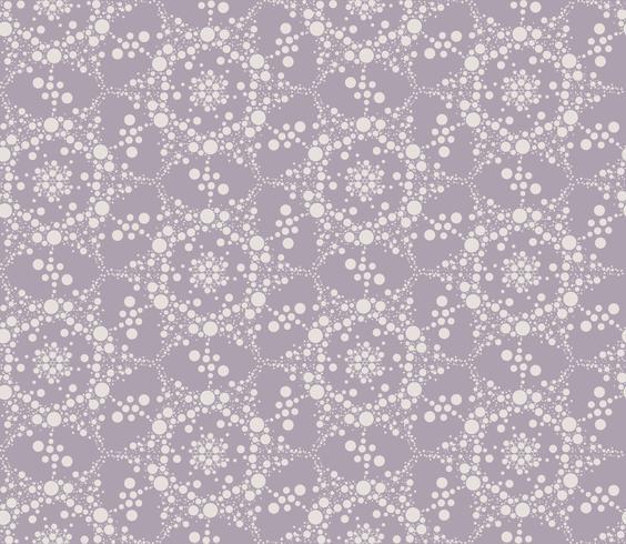 Textura sem costura floral de ponto abstrato. Padrão de telha elegante vetor