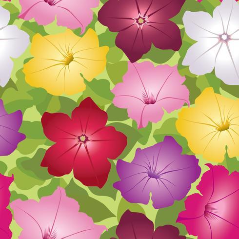 Padrão sem emenda floral. Fundo flor decorativa. vetor