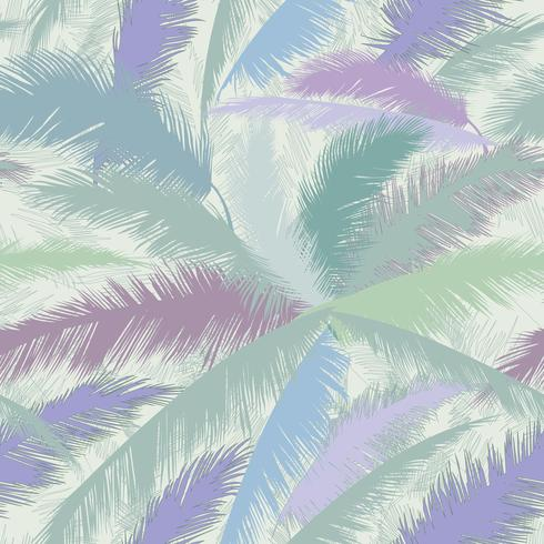 Folhas de árvore de palma padrão floral. Primavera de natureza texturizada de fundo. vetor