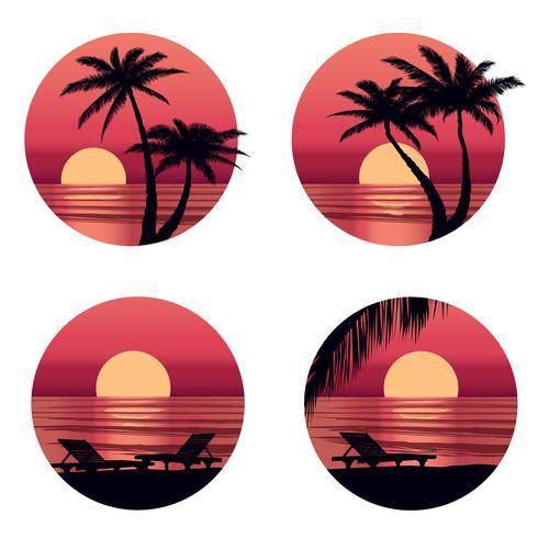 Fundo de férias de verão. Vista à beira-mar. Resort de praia papel de parede vetor