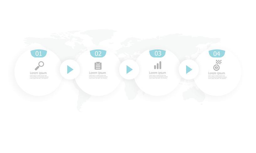 infográficos de cronograma de círculo horizontal vetor