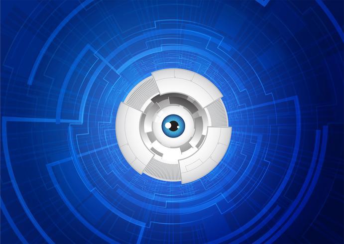 conceito de comunicação de tecnologia de olho abstrato. vetor