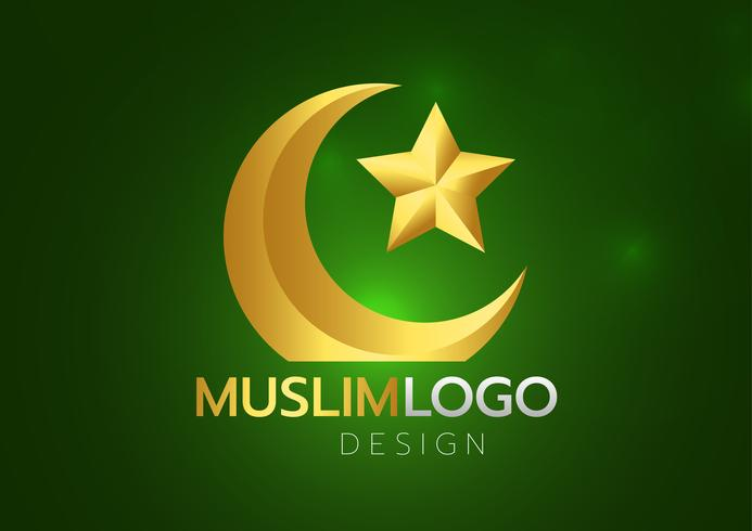 Cartão islâmico no fundo verde. Ilustração vetorial Ramadan Kareem vetor