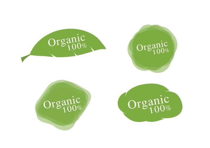 Etiquetas orgânicas 100% vetor