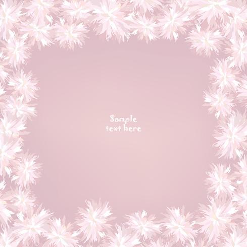 Design de cartão de flores. Quadro floral. Florescer fundo de cartão de verão vetor