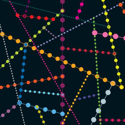 Padrão sem emenda de ponto geométrico abstrato. Fundo de molécula de bolha vetor