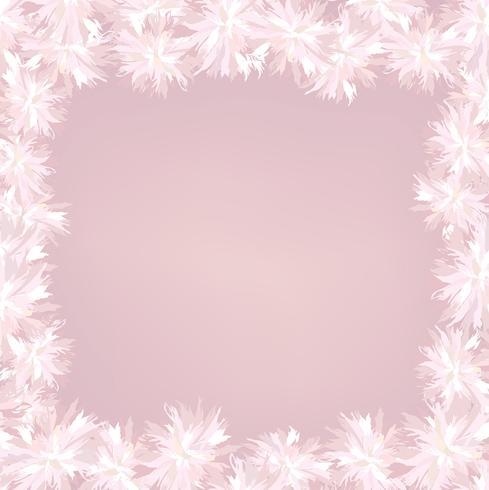 Cobertura de flores. Quadro floral. Florescer fundo de cartão de verão vetor