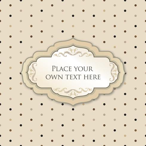 Quadro floral caligráfico Elemento de decoração de página. Borda do cartão vetor