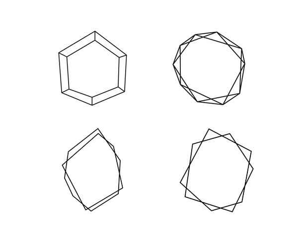 Coleção geométrica de formas redondas com lugar para texto. Conjunto de círculo em vetor. Logotipo símbolo e ícones. Ilustração isolado em um fundo branco vetor