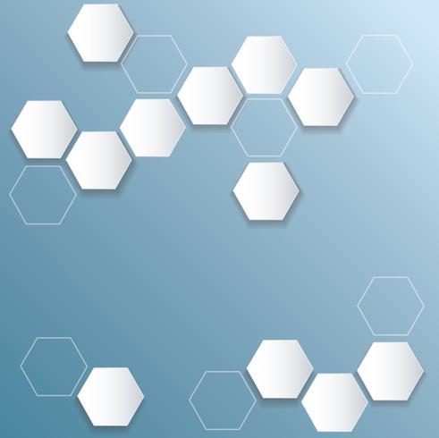 fundo de hexágono de colmeia de abelha abstrata vetor