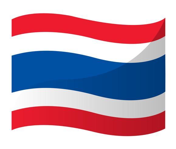 Ícone de bandeira tailandesa, vetor de bandeira de Tailândia