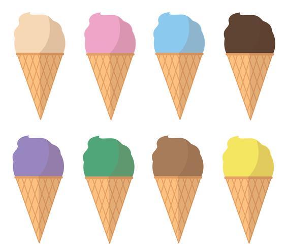 vetor de desenhos animados de sorvete pastel