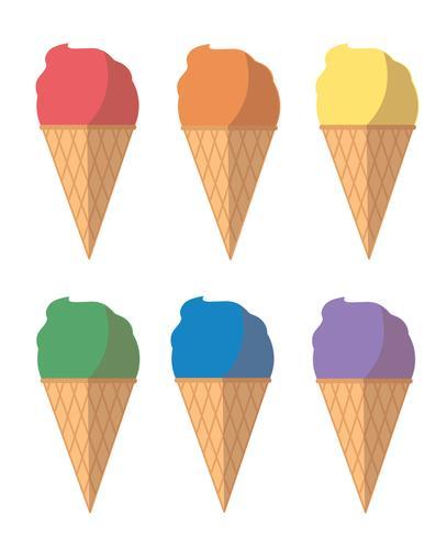 desenho de sorvete pastel vetor
