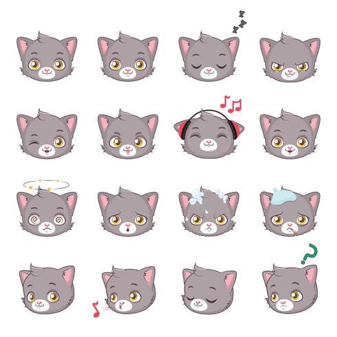 ícone de cabeça de gatinho vetor