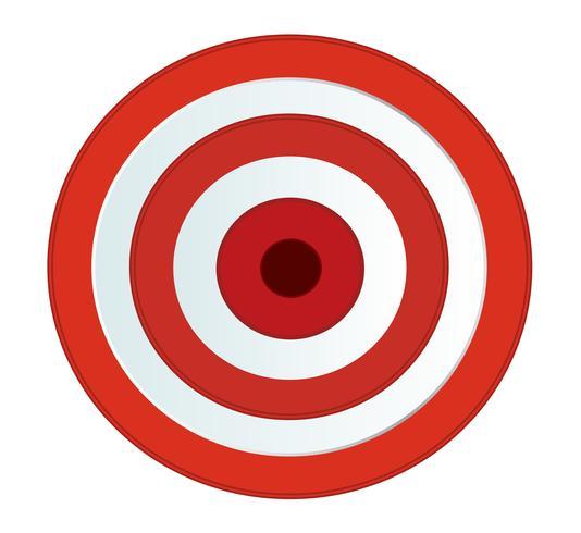 Vetor de tiro com arco de alvo