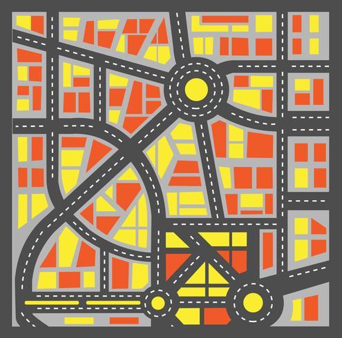 Cidade planejada vetor