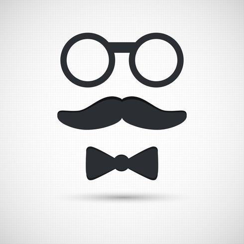 Óculos retrô vetor