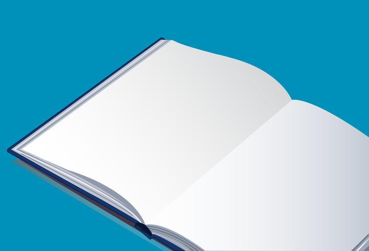 o fundo de vetor de livro vazio aberto