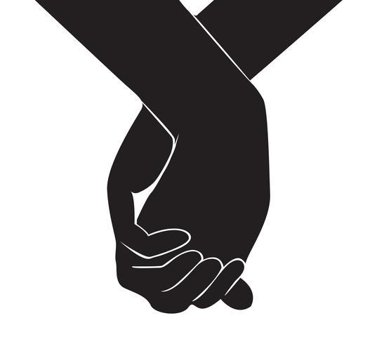 mão segurando outro vetor de mão