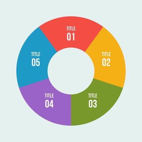 Gráfico de pizza, círculo infográfico ou diagrama circular vetor