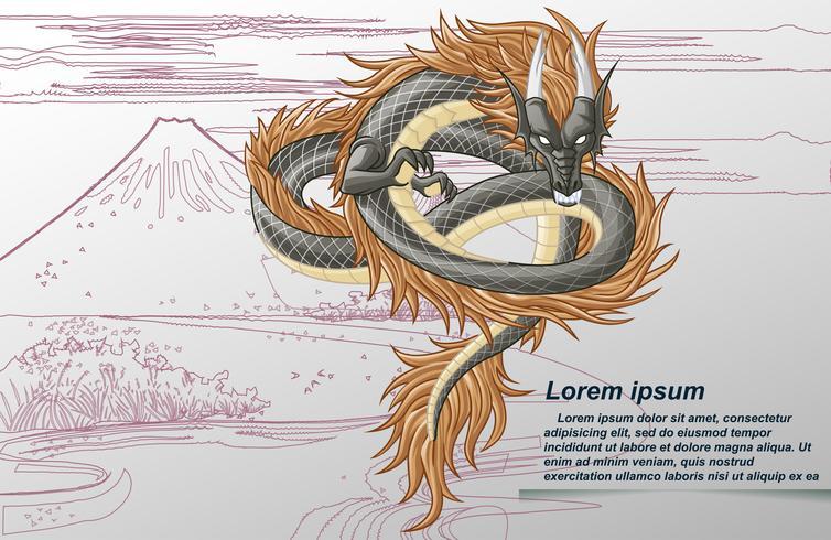 Dragão é animal em contos de fadas. vetor