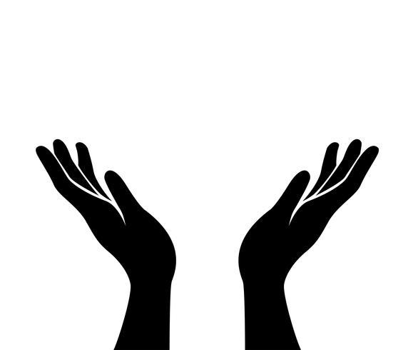 vetor de ícone de mãos