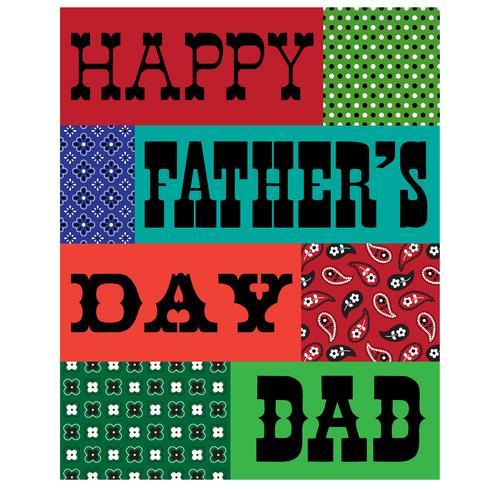 cartão do bandana do dia dos pais vetor