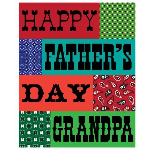 cartão do bandana do vovô do dia dos pais vetor