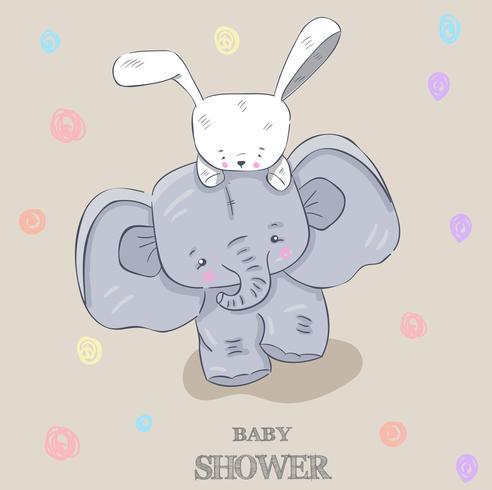 elefante pequeno bonito vetor