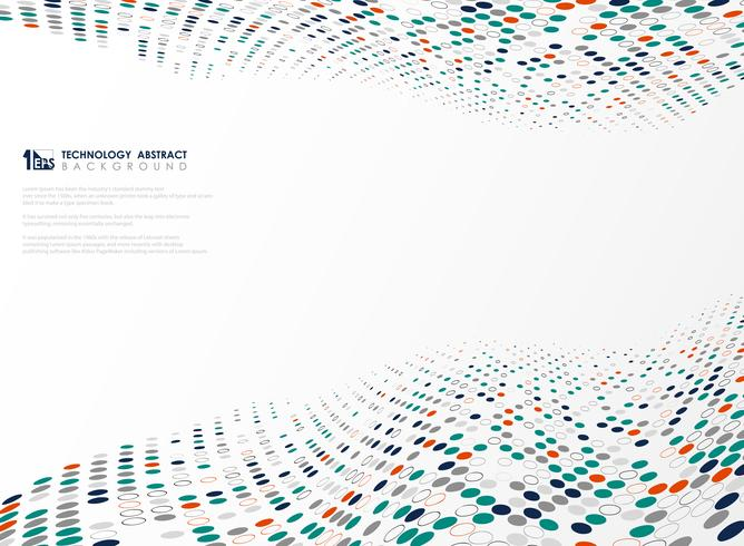 O círculo moderno da tecnologia colore o teste padrão do fundo futurista do projeto. ilustração vetorial eps10 vetor