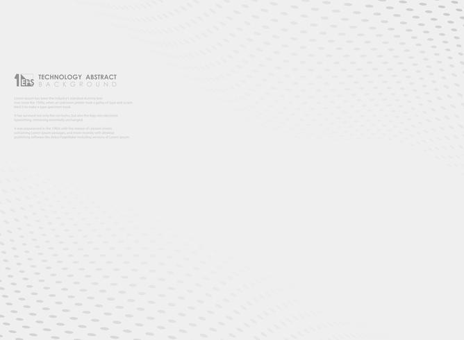 Teste padrão de ponto cinzento ondulado abstrato no fundo branco. ilustração vetorial eps10 vetor