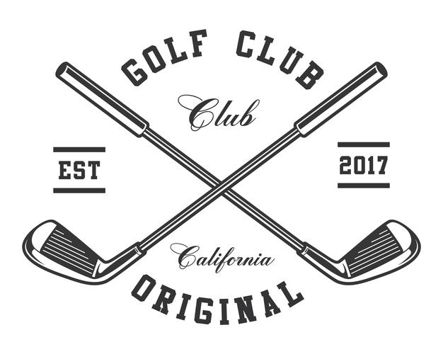 Clubes de golfe vetor