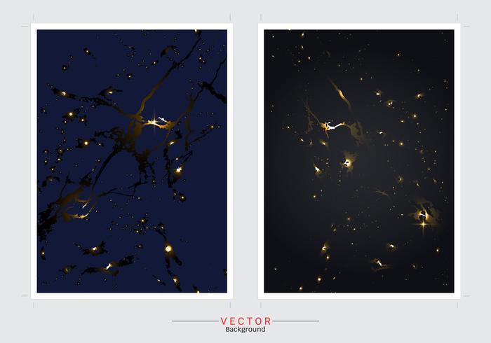 Conjunto de imitação de mármore ouro fundo tampa vector. vetor