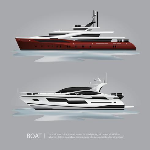 Iate de barco de transporte turístico para viajar de ilustração vetorial vetor