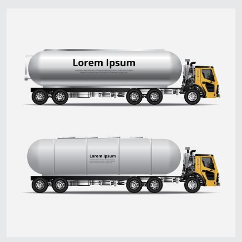 Ilustração de vetor de transporte de caminhões de carga