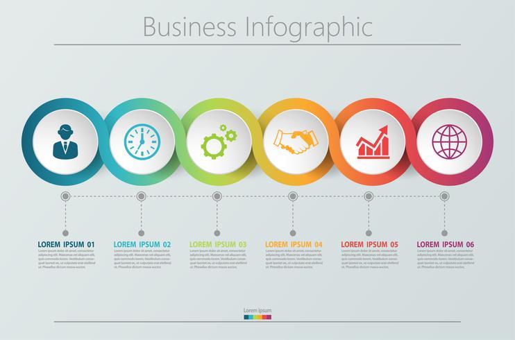 Modelo de infográfico de negócios de apresentação. vetor