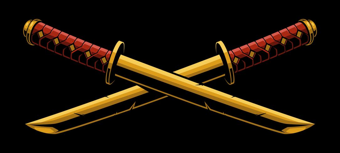 Espadas de katana o tanto vetor