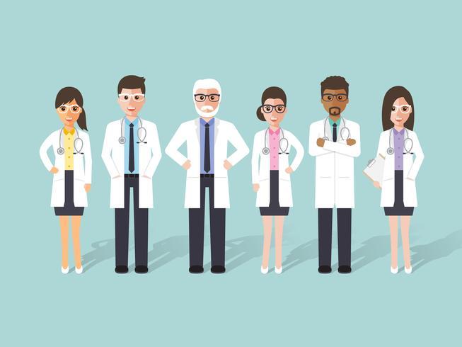 Grupo de médicos, equipe médica. vetor
