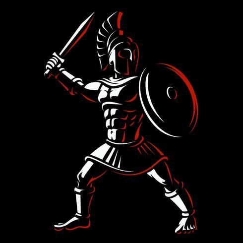 Guerreiro espartano vetor