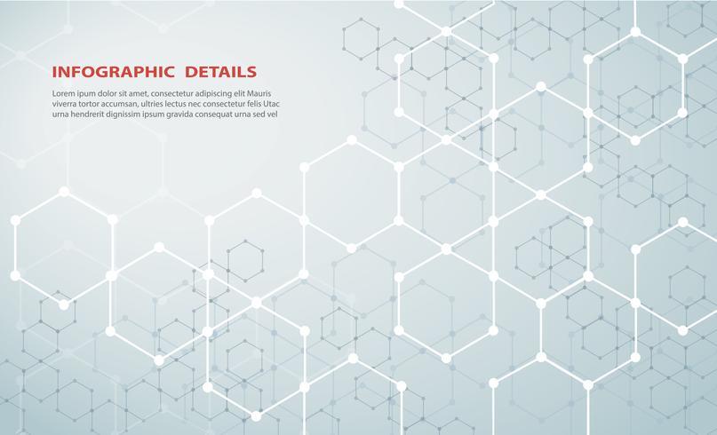 a forma do hexágono conceito design abstrato tecnologia fundo vetor