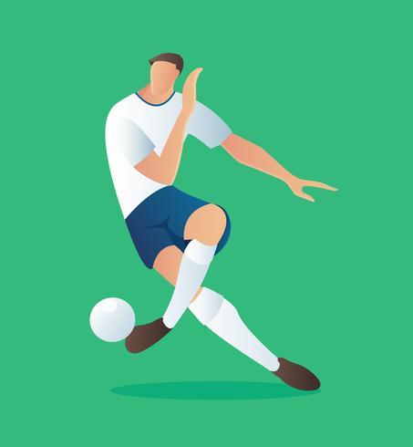 Jogador de ação de futebol, ilustração vetorial de jogador de futebol vetor