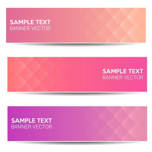 Fundo de gradiente de cor linda banner abstrato vetor