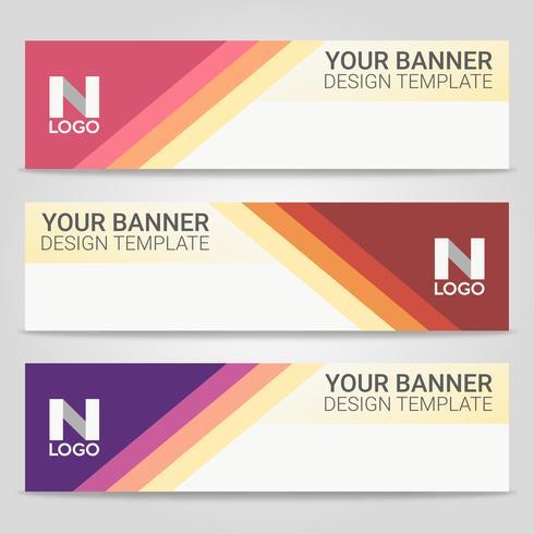 Fundo de modelo abstrato banner bonito, ilustração vetorial, Design para apresentação de negócios vetor