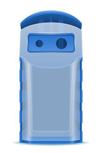 ilustração em vetor classificação resíduos de lixo de plástico