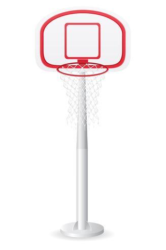 ilustração em vetor encosto de basquete