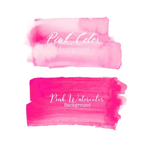 Aquarela cor-de-rosa do curso da escova no fundo branco. Ilustração vetorial vetor