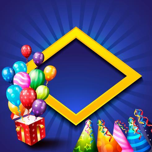 fundo de festa de aniversário, balão de aniversário papel de parede vetor