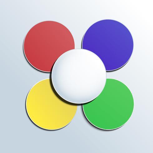 Botão colorido no fundo branco para qualquer infográfico vetor