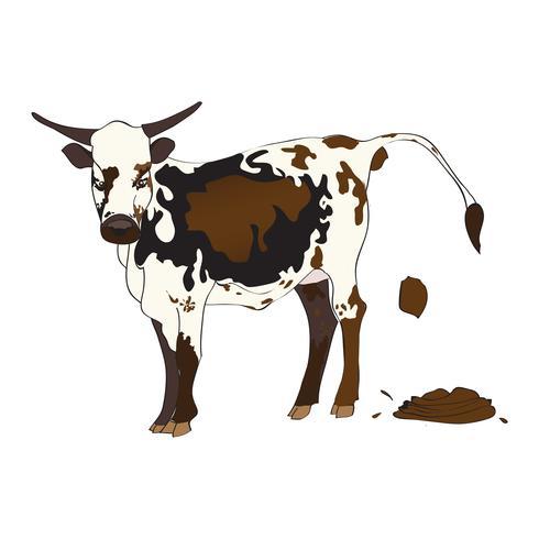 Vaca cagando vetor